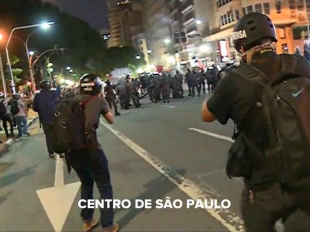 Protesto conta alta da tarifa em São Paulo (Foto: Reprodução/G1)