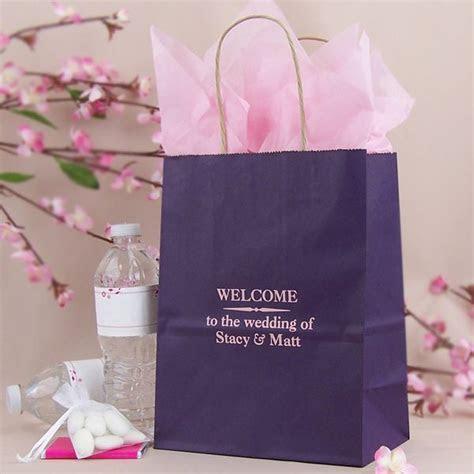 8 x 10 Custom Printed Paper Wedding Hotel Guest Gift Bags