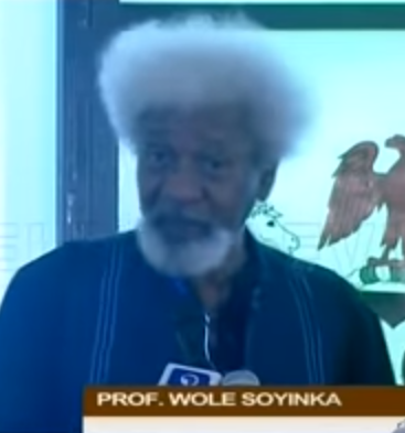 ''Stop Confusing Nigerians'' Soyinka Tells Buhari During Conferment Of GCFR Title On Abiola In Abuja