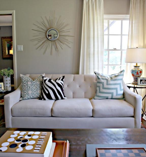 Macy's Chloe Sofa - Contemporary - living room - Behr Wheat Bread ...