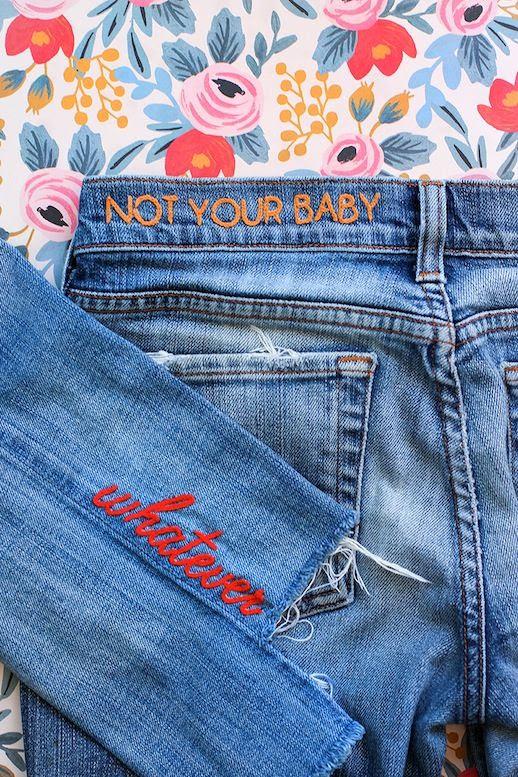 Le Fashion Blog Fall Style Embroidered Denim Fray Via HonestlyWTF