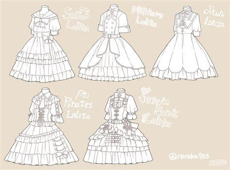 draw dresses  ruffles  frills draw clothing