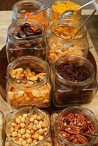 Dried fruits and nuts to go with cheese