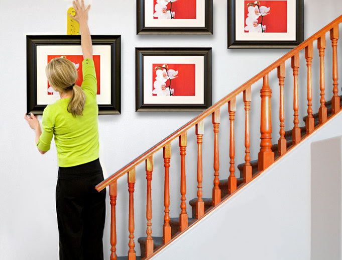 How To Hang Picture On Staircase Wall Photos Freezer And Stair