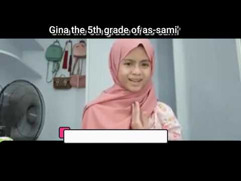 Gina the 5th grade of as sami' class