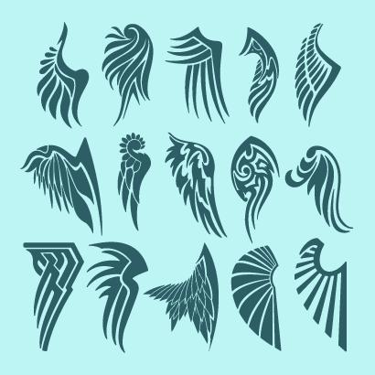 天使の羽根翼タトゥーのイラストaieps ベクタークラブ
