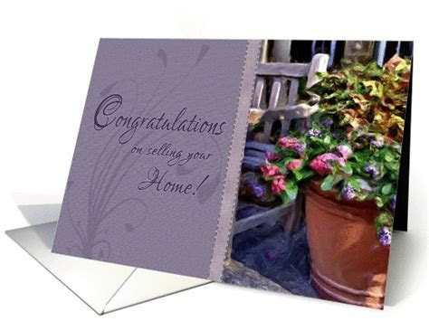 Congratulations on Selling Your Home card (939605)