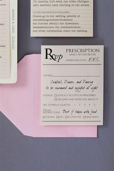 Medical Themed Wedding Invitations   Response cards