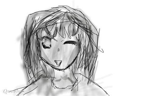 good anime pic  black white speedpaint drawing