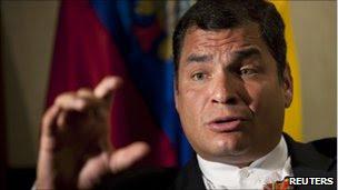 Rafael Correa in file photo from 7 July