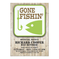 Gone Fishin' Retirement Party Invitation
