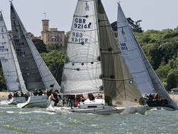 J/92 sailing Round Island Race off England