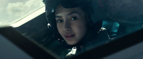 Angelababy plays a fighter pilot called Rain in INDEPENDENCE DAY: RESURGENCE.