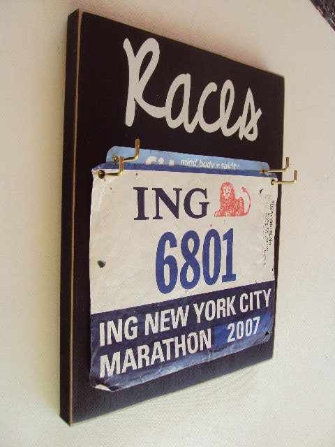 women's race bibs display