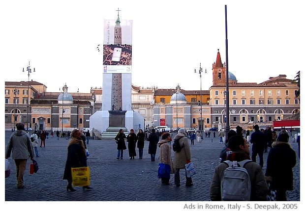 Advertisements in Rome, Italy - images by S. Deepak 2005-2012