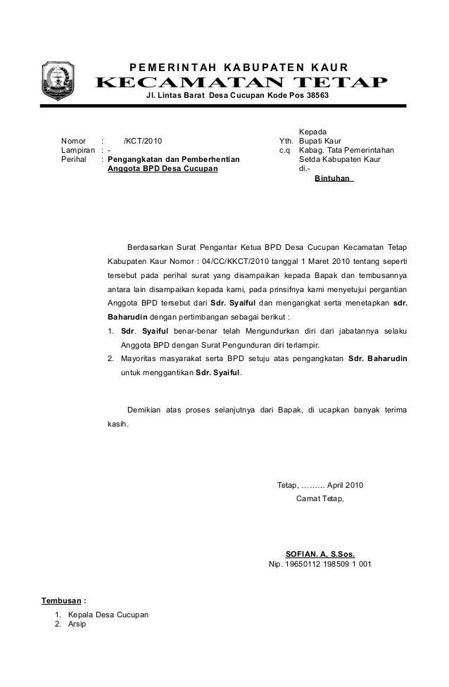 contoh surat pengunduran diri instansi pemerintah contoh ros
