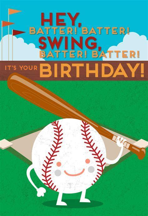 Baseball Themed Birthday Card   Greetings Island