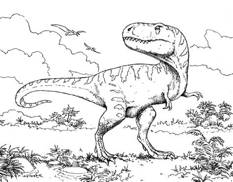coloring pages extinct animals printable dinosaur