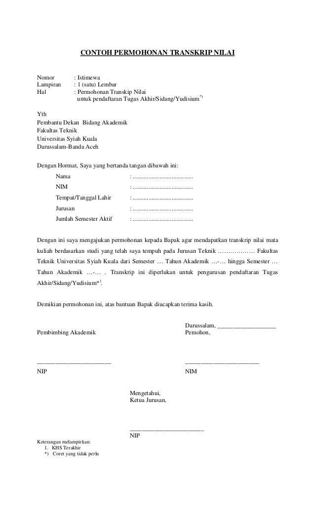 contoh surat izin cuti kuliah dari orang tua surat 25