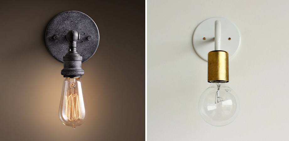 Simple Diy Exposed Hanging Light Bulb
