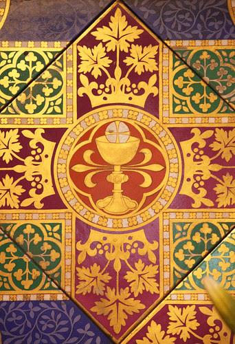 Eucharistic tiles in Cheadle