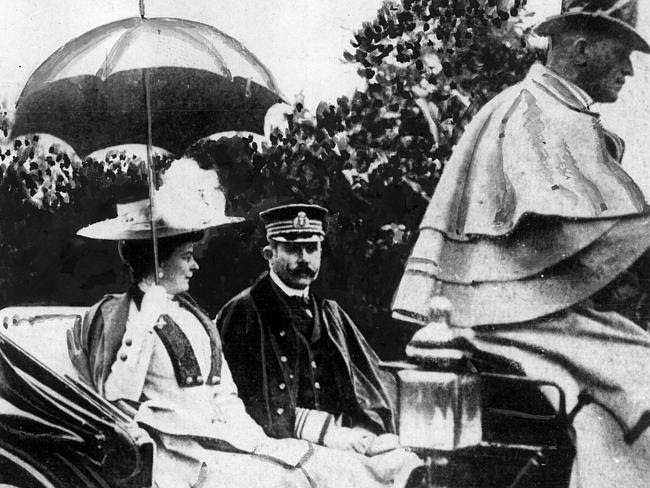 Franz Ferdinand and his wife Sophie in undated photo before his assassination.
