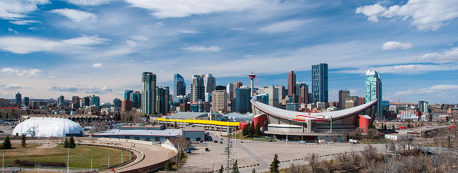 Calgary Skyline Photograph by Guy Whiteley