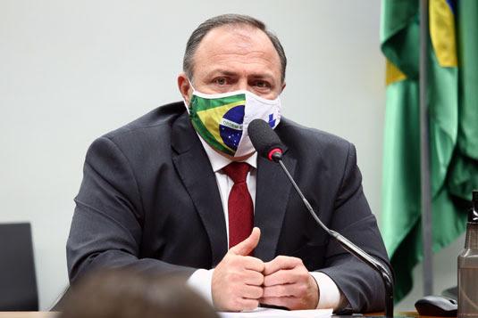 Ministro interino da Saúde, Eduardo Pazuello   Foto: Najara Araujo/Câmara dos Deputados