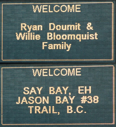 Groups: Doumit/Bloomquist family and Say Bay Eh