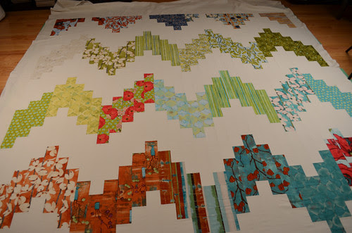 A quilt for my bed - basting