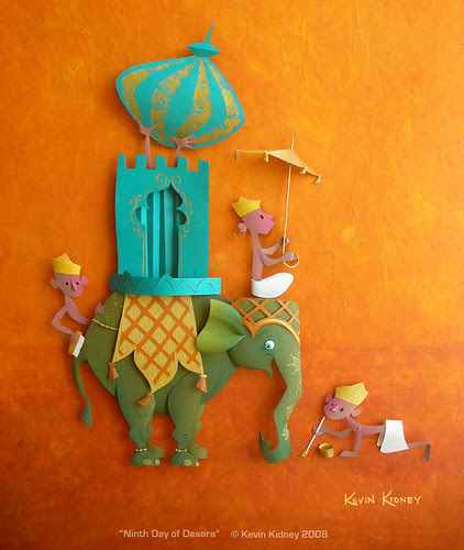 Paper Sculpture Illustration by Kevin Kidney