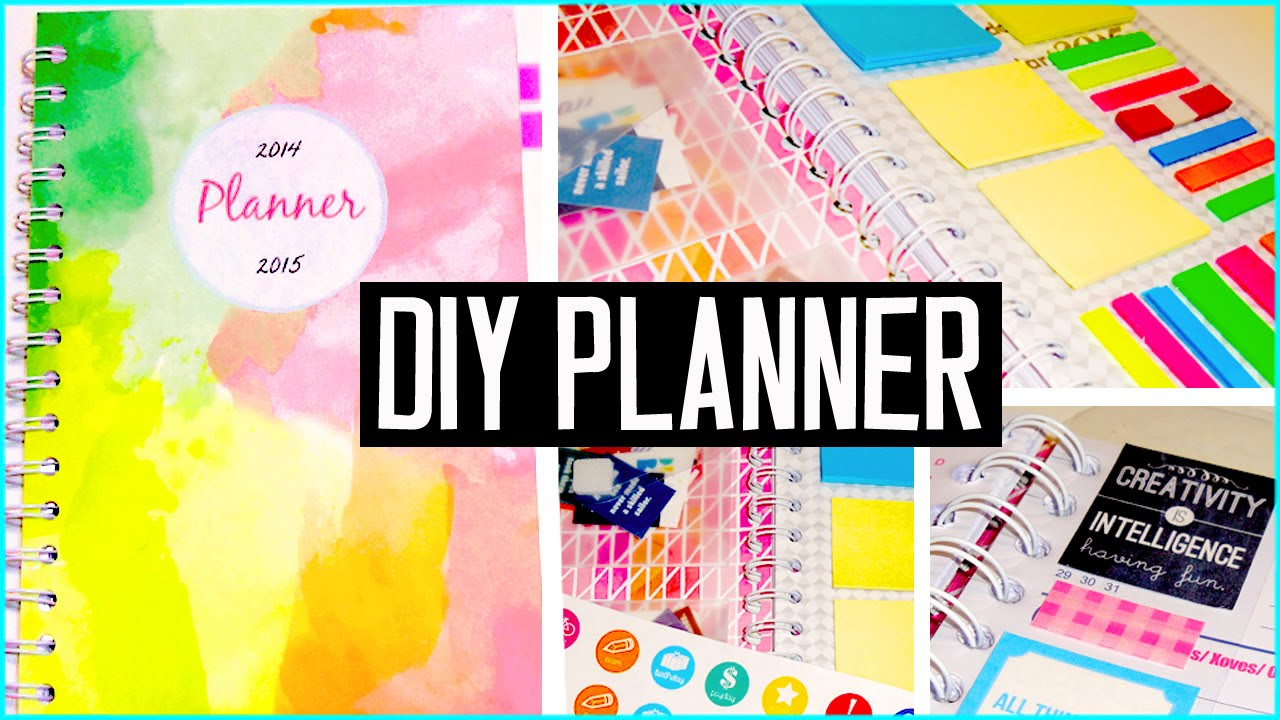DIY PLANNER! Cover, decorations, stickers & more! DIY back to ...