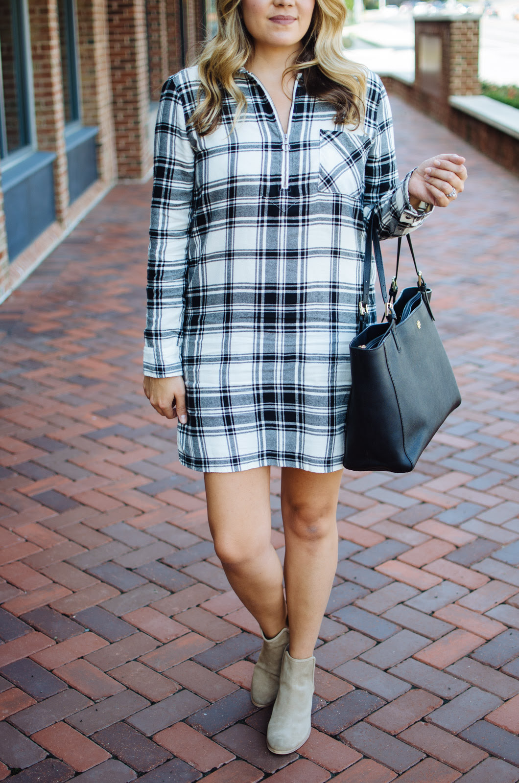 flannel plaid dress outfit lauren m
