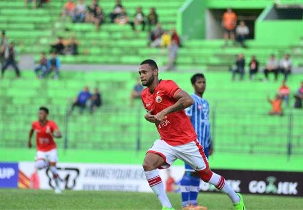 luiz Junior mencetak gol penyeimbang bagi Persija Jakarta