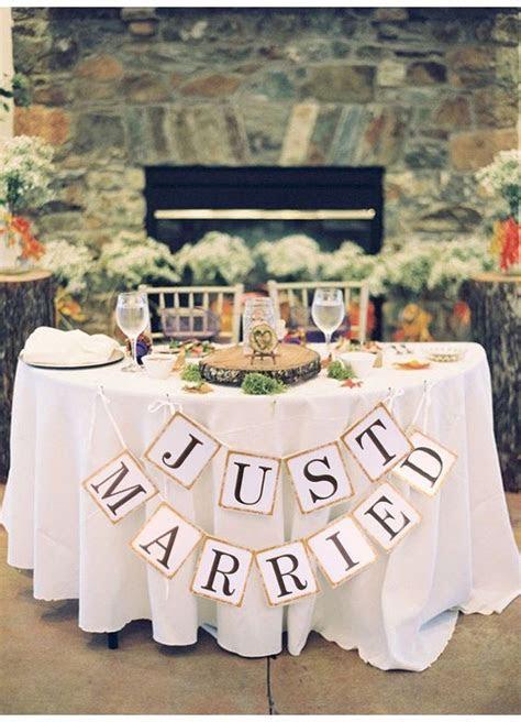 """Just Married"" Wedding Banner DIY Wedding Shop   Budget"