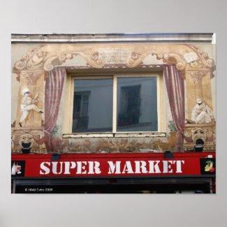 French Super Market Print print