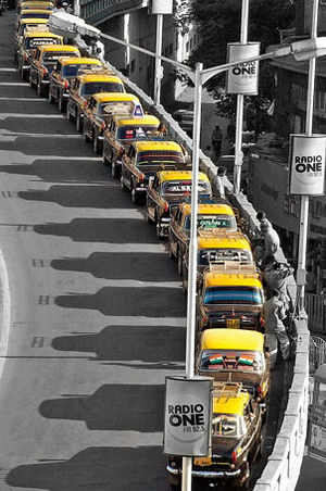 An august farewell for iconic Bombay cab