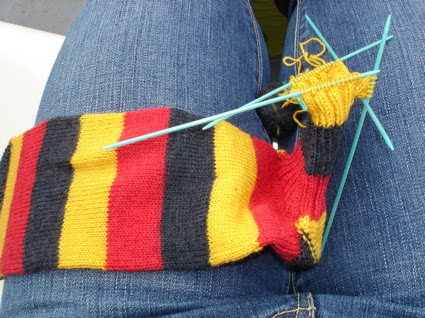 Knitting on the ferry