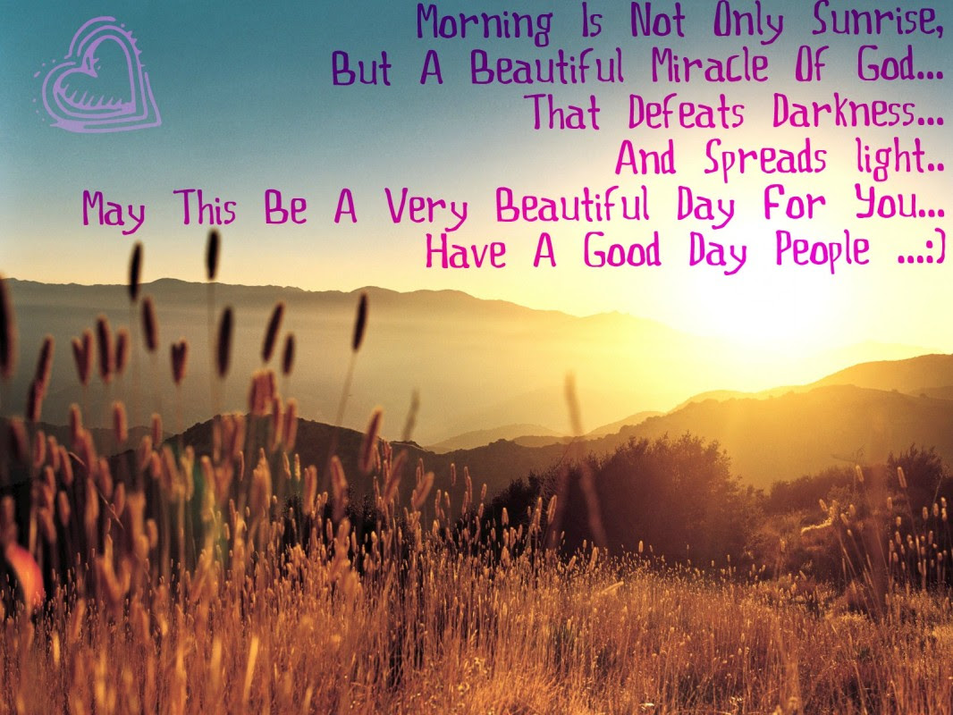 Beautiful Morning Sunrise Quote Quote Number 677891 Picture Quotes
