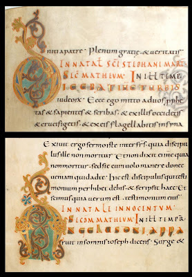 manuscript writing from german monastery