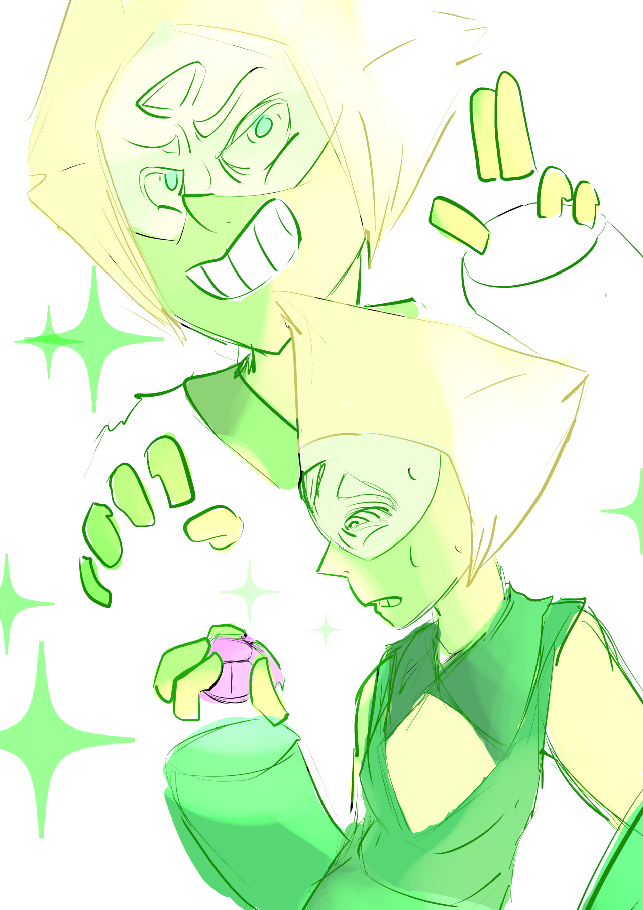 i'd be lying if i said i didn't miss peridot's limb enhancers