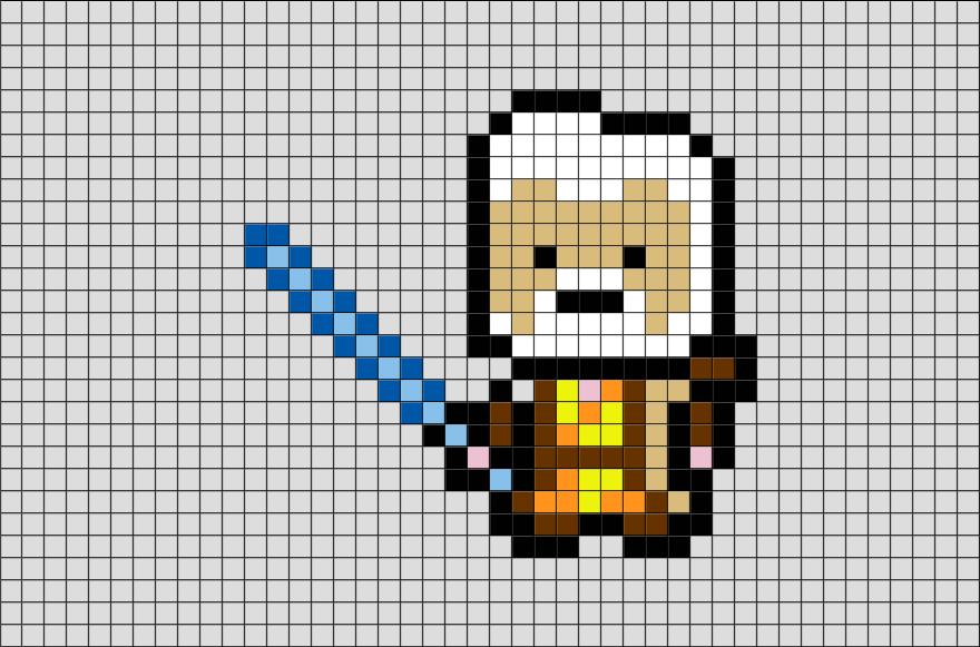 Dessin Pixel Bb8