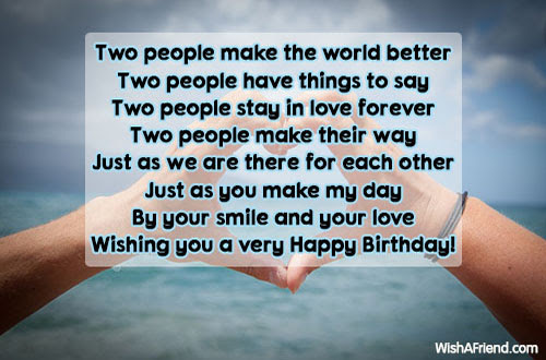 Two People Make The World Better Love Birthday Quote