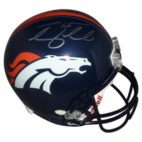 Tim Tebow Autographed Denver Broncos Deluxe Full-Size Replica Helmet - Tebow Holo