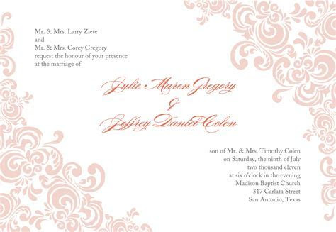 Printable Wedding Invites Templates
