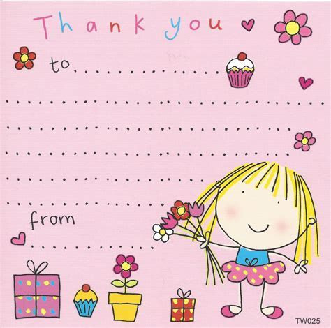 thank you notes for kids, thank you cards for children