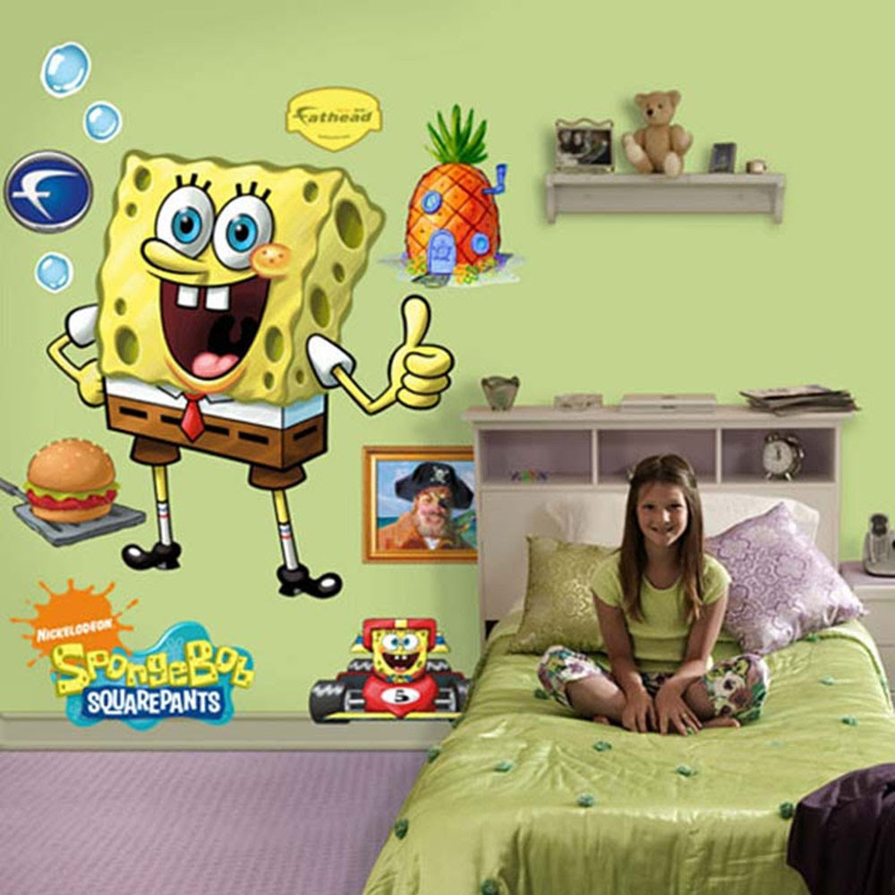 Spongebob Bedroom and Furniture Set Kids Room Wall Decor Spongebob ...