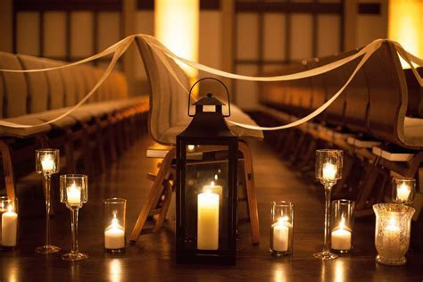 Wedding aisle! Lanterns, ikea candles.   Goin to the