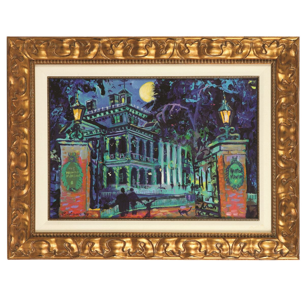 Eric Robison Tribute To The Haunted Mansion Original Painting