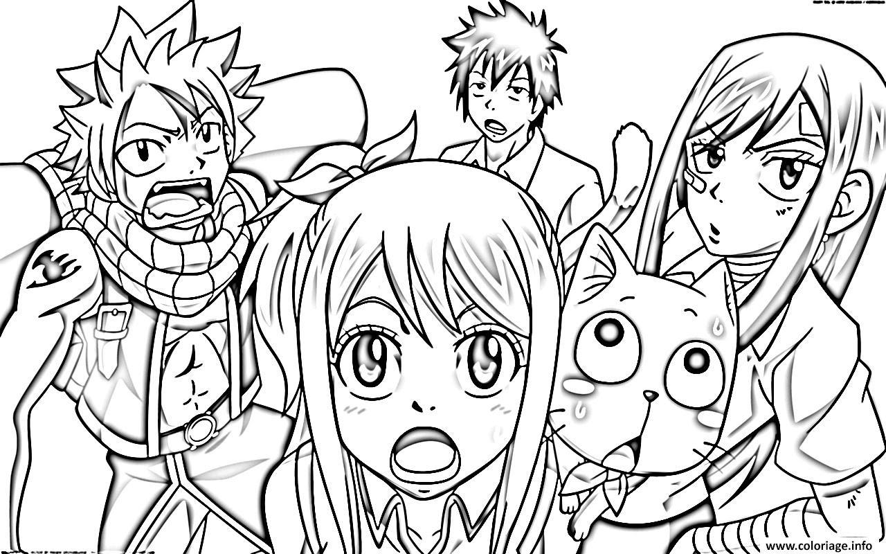 Coloriage Fairy Tail Manga 12 Dessin  Imprimer